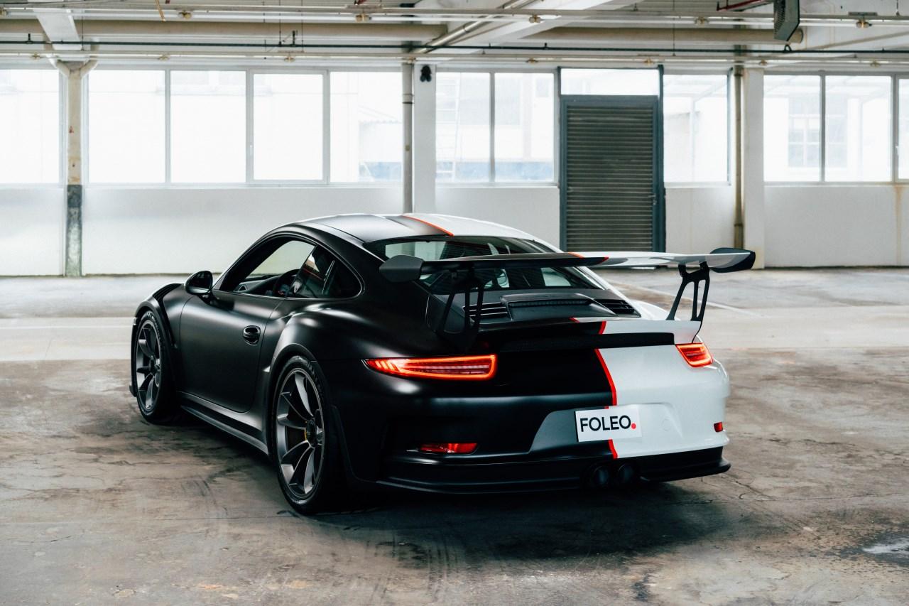 Porsche GT3 RS Folierung weiß schwarz