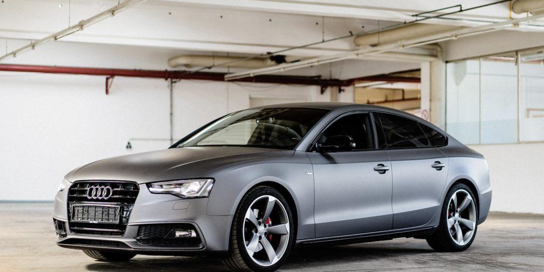Sportback Audi A5 Folierung grau Delbrück